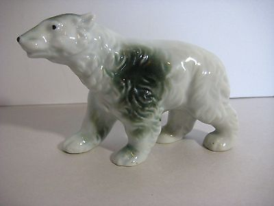 Vintage Ceramic Polar Bear Figure Made in Japan EXcellent 5""
