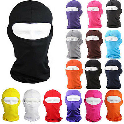 Full Face Mask lycra Balaclava Motorcycle Cycling Ski Neck Snood Protecting New