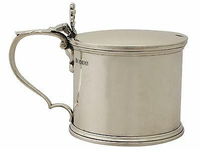Antique Sterling Silver Mustard Pot, George V