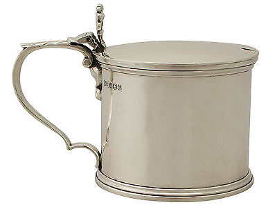 Sterling Silver Mustard Pot - Antique George V