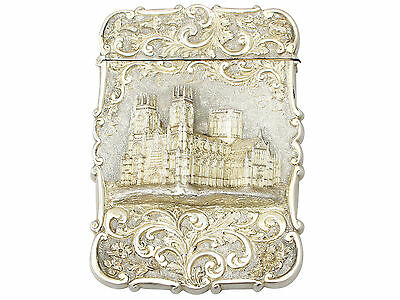Antique Victorian Sterling Silver Card Case Nathanial Mills Birmingham 1843