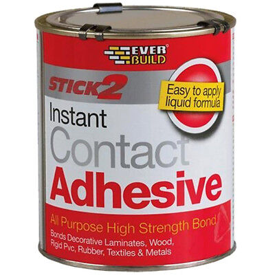 Everbuild Stick 2 All Purpose Contact Adhesive Glue High Strength Bond - 750ml