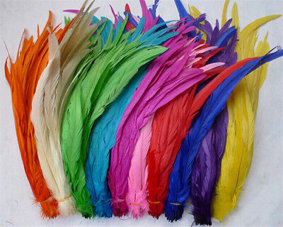 Wholesale! 10/50/100pcs Beautiful rooster tail feathers 12-14inches/30-35cm