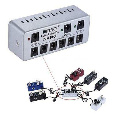 Guitar Effects Mini Power Supply 8 Isolated DC Outputs with Adapter Cables J5I3