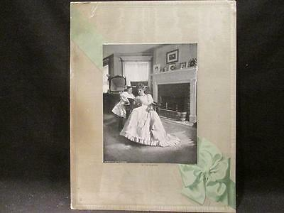 By the Fireside #722 Salesman's Sample 1907 F A Scheider Mother & Daughter