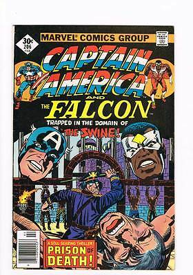 Captain America # 206 Face to Face With the Swine ! grade 8.0 hot book !