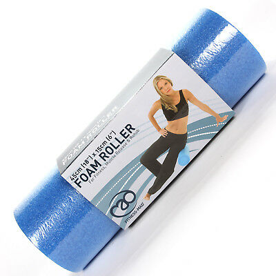 "Fitness Mad Blue 18"" x 6"" Roller for Core Stability Yoga & Pilates"