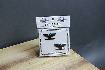 New Colonel COL Full Bird Pin-On Submetal Sta-Black Army Rank Insignia, 2/Pack