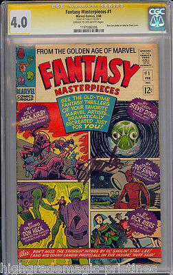 Fantasy Masterpieces #1 Cgc 4.0 Ss Stan Lee Signed Sig Series Cgc #1197086008