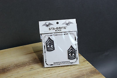 New First Sergeant 1SGT Pin-On Rank Insignia Submetal Sta-Black