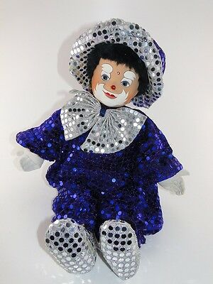 Alte Porzellankopfpuppe DDR Puppe Sammelpuppe Modepuppe Clown Antique Doll