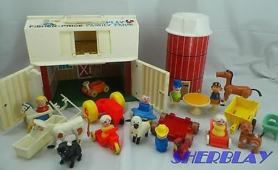 Fisher Price Little People 915 PLAY FAMILY FARM BARN SILO ANIMALS PEOPLE +More