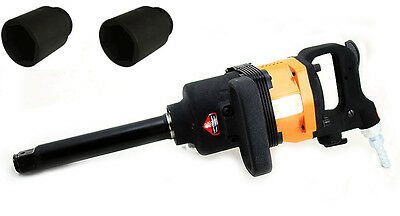 "1900FT/LB Air Impact Wrench 1"" Drive Gun Long Commercial Truck w 2 Sockets Shank"