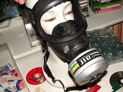 Msa Auer 3S Gas Mask-New, Not Used In Original Package, Filter Canister Included