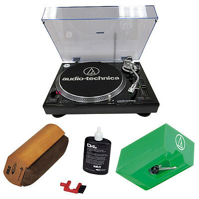 Audio-Technica AT-LP120-USB Professional Turntable + Replacement Stylus & More