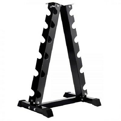 NEW Heavy Duty 6 Pairs Powder Coated Steel Vertical Dumbbell Storage Rack Stand