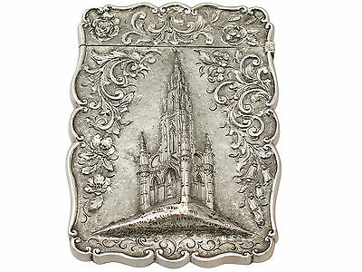 Antique Sterling Silver Card Case - Victorian