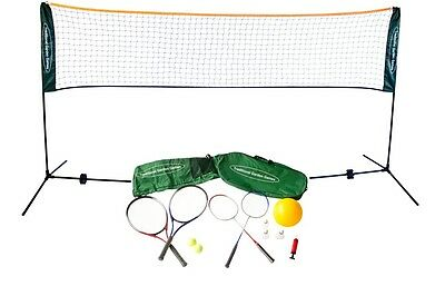 Traditional Garden Games Badminton Volley Ball Tennis Net 3m Rackets and Balls