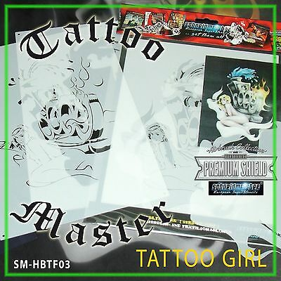 "TOP AIRBRUSH SCHABLONE MASTERCLASS ""TATTOO GIRL"", MULTILAYER, SM-HBTF03, ca. A4"