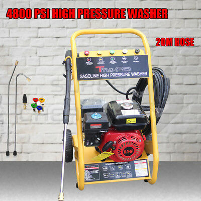 TmaxPro 4800 PSI High Pressure Water Cleaner Washer Gurney 8 HP Petrol 20m Hose