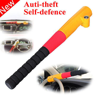 Vehicle Steering Wheel Universal Car Anti-Theft Safety Lock Heavy Duty W/ 2 Keys