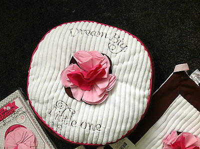 Boutique Itty Bitty & Pretty Baby Girl Pillow & Snuggle Blankie - Brown & Pink