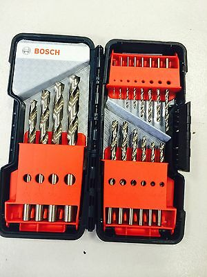 Bosch Metallbohrer-Set HSS-G DIN 338 135o 18tlg 1-10 mm in Toughbox 2607019578