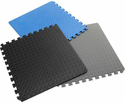 Hausen Interlocking Soft EVA Foam Mats Kids Play/Garage/Gym Floor Tiles