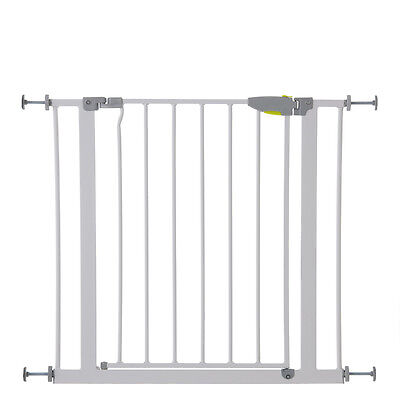 New Hauck White Squeeze Handle Pressure Fix Metal Safety Stair Gate
