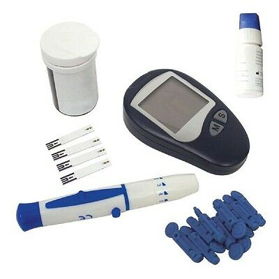 Blood Sugar Glucose Monitor Diabetic Kit with 10 Lancets and 10 Test Strips