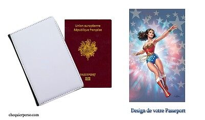 Wonder Woman 07 Protège PASSEPORT étui pochette range passport