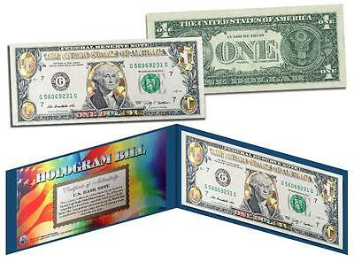 GOLD HOLOGRAM *Crackle* Genuine Legal Tender $1 U.S. BILL *MUST SEE - Limited*