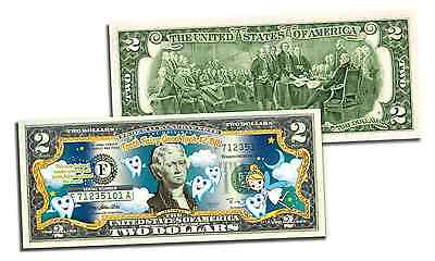Original TOOTH FAIRY Good Luck Keepsake OFFICIAL Genuine Legal Tender US $2 Bill