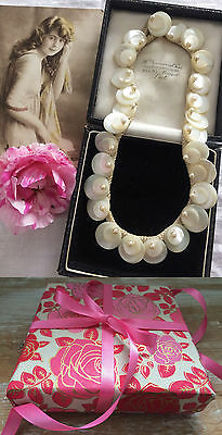 Antique c1900 Victorian Edwardian Mother Of Pearl MOP Necklace. Bridal. Occasion