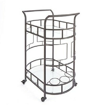 Sinclair Bar Cart Hammered Bronze Perfect For Cocktail Parties And Entertaining