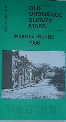 Old Ordnance Survey Detailed Maps Mossley (South)  Lancashire 1905 Godfrey Edit