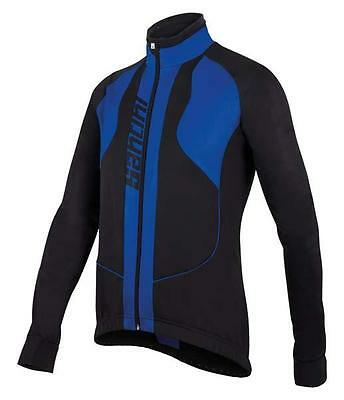 Rebel Winter Windproof CYCLING JACKET in Blue - Made in Italy by Santini