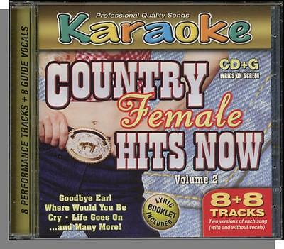 Karaoke CD+G - Country Female Hits Now, Vol 2 - New 8 Song CD! I'm Gonna Getcha