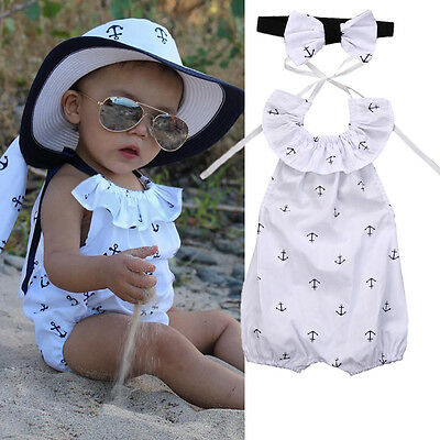 Baby Girl Strampler Anker Body Anzug Overall Outfits Sunsuit Einteilig Kleidung