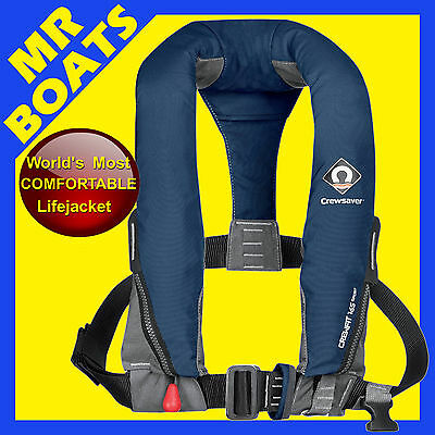 CREWSAVER SPORT INFLATABLE LIFEJACKET ✱ Extremely Comfortable ✱ NAVY BLUE MANUAL