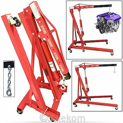 2 Ton Professional Mechanic Hydraulic Folding Engine Crane Stand Hoist Lift Jack