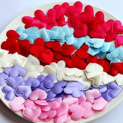 100 Pcs Hot Fabric Heart Wedding Confetti Table Party Decoration Love Gift
