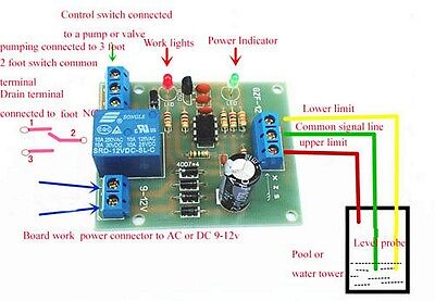 9-12V Auto Liquid Level Controller Switch Module Water Level Detection Sensor