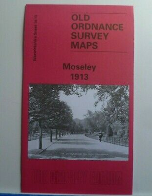 Old Ordnance Survey Detailed Maps Moseley Warwickshire 1913 Godfrey Edition New