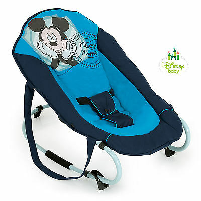 New Hauck Disney V Mickey Blue Rocky Deluxe Baby Bouncer Rocker Chair From Birth