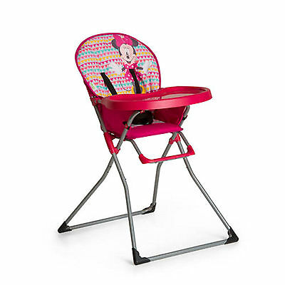 New Hauck Disney Minnie Geopink Mac Baby Folding Highchair Compact Feeding Chair