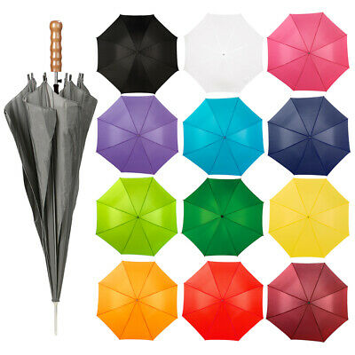 """Golf 44"""" Umbrella Canopy Fishing Sports Strong Compact Light Automatic Brolly UK"""