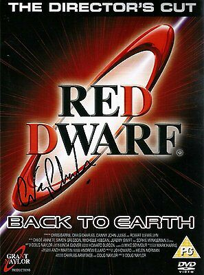 Red Dwarf-Back to Earth DVD - SIgned by Lister AKA Craig Charles
