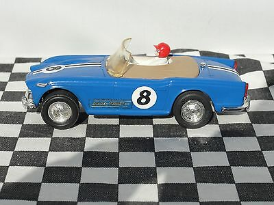 Scalextric 1960's Triumph Tr4  #8 Blue C84  1.32  Used  Unboxed