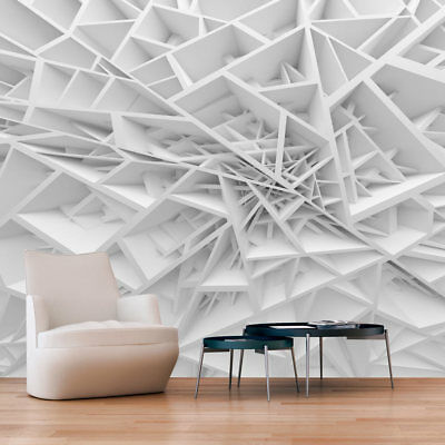 Photo Wallpaper Art Picture ILLUSION 3D WHITE ABSTRACTION a-B-0039-a-a